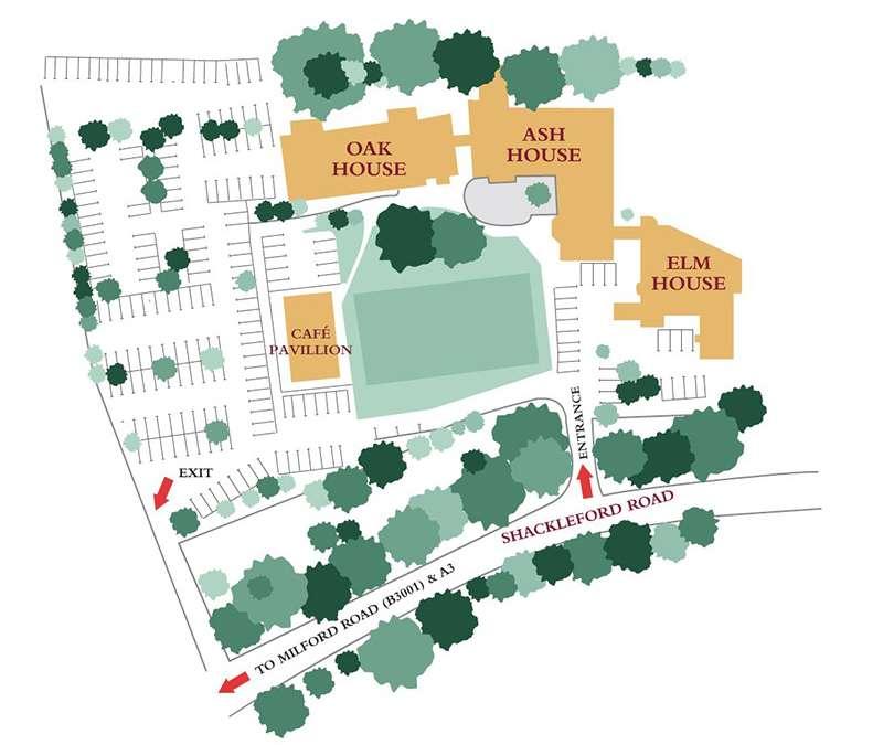 Tanshire Park Site map