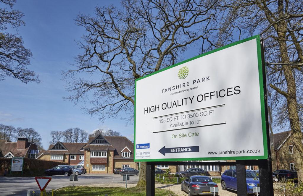 Tanshire Park Entrance Sign