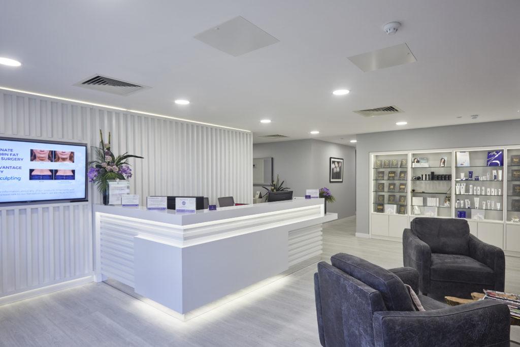 Health & Aesthetics Reception Area