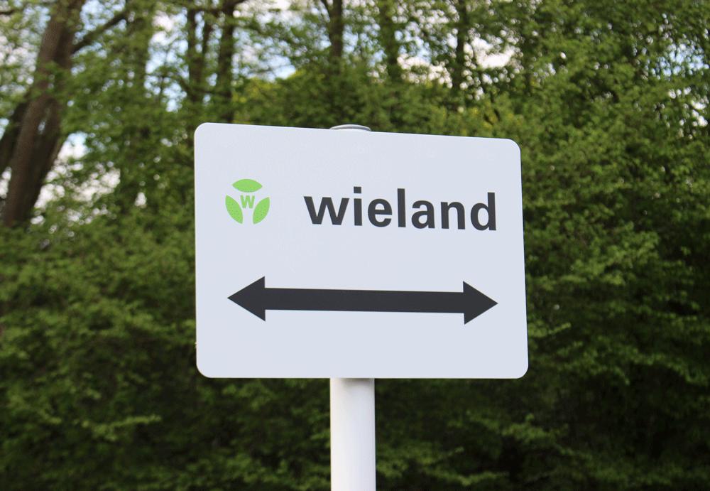 Carpark signage as Wieland Electric move Tanshire Park Surrey Buisness Park