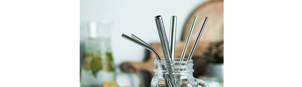 Sustainable ideas - using reusable straws in the office