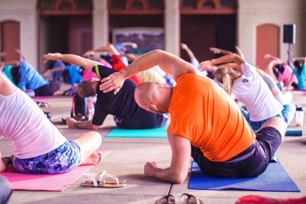 people taking yoga class
