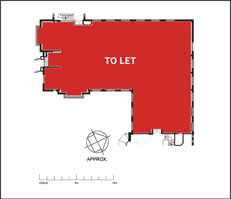 Floorplan showing 5,684 sq ftoffice space to rent in Ash House at Tanshire Park Surrey business park