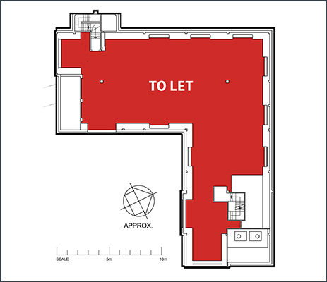 Floorplan showing office space to rent in Ash House at Tanshire Park Surrey business park