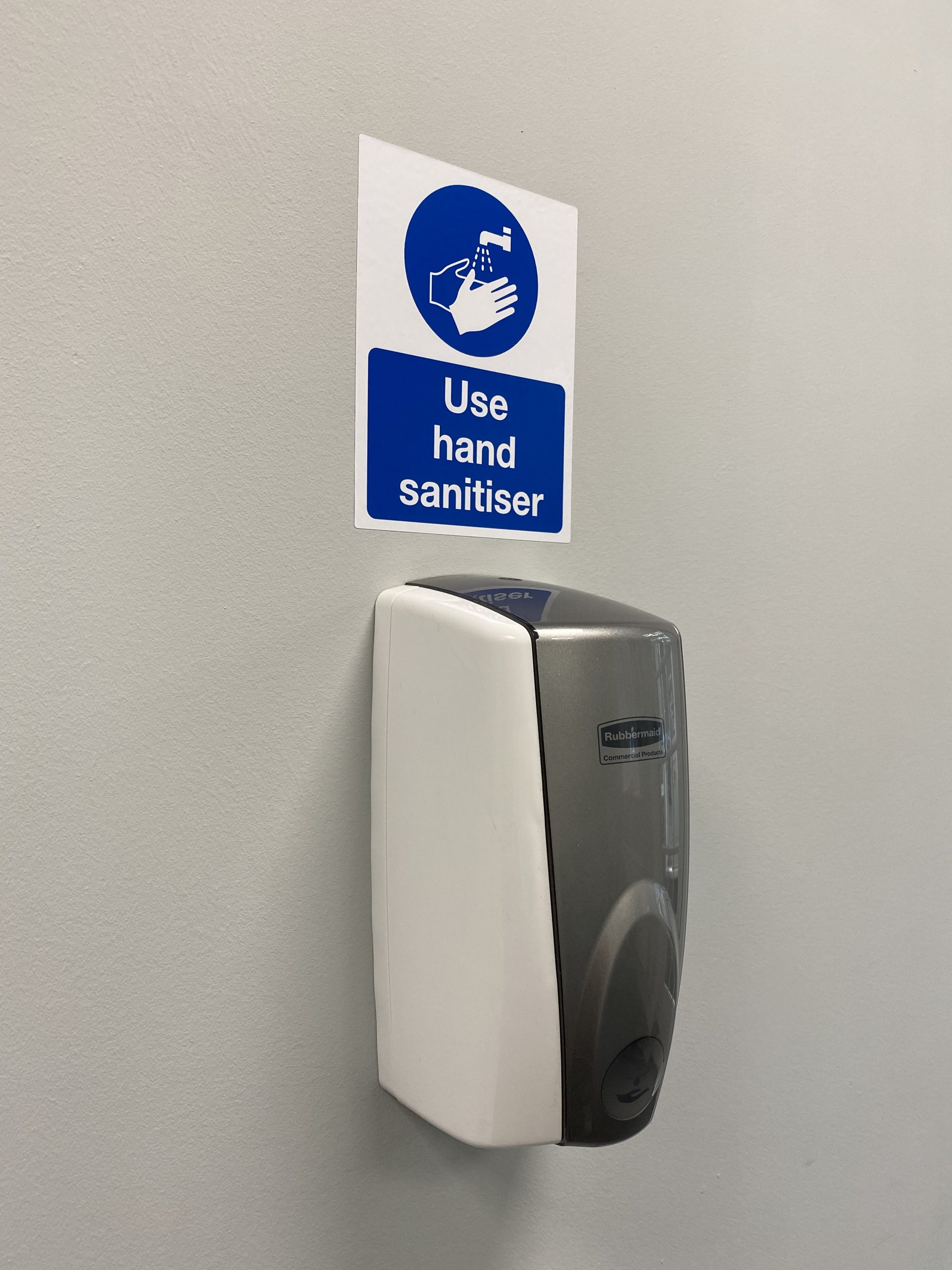 Tanshire Park Wall Mounted Hand Sanitiser Dispenser to encourage hand hygiene during COVID-19 pandemic