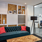 Grade A office space welcome area at Tanshire Park