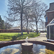 Countryside surroundings and water feature for Grade A office space at Tanshire Park